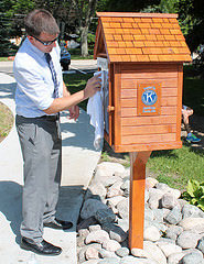 cleaning the little library