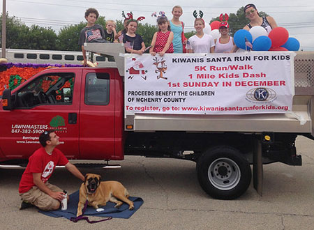 Fourth of July Santa Run Parade Float