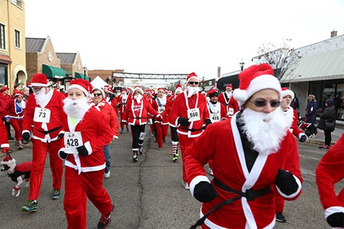 Santa run participants 2014