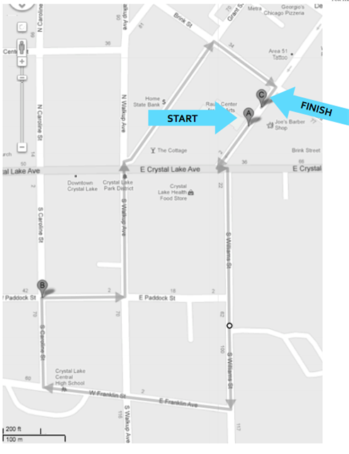 walking route map
