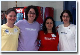 Club members sporting Kiwanis International Shirts