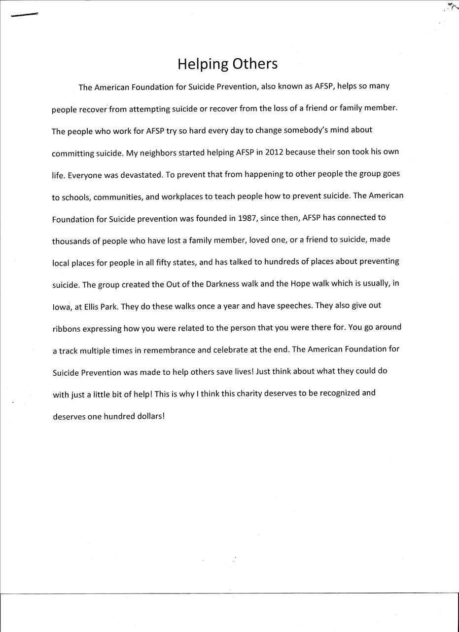 essay about helping others co essay about helping others
