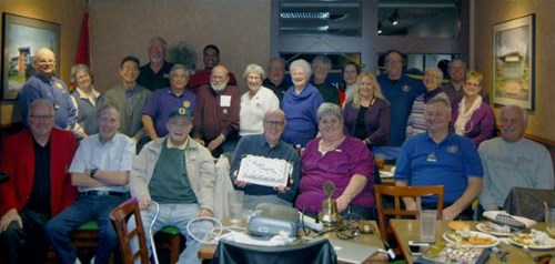Celebrating 100 years of Kiwanis at the January Division Council meeting.