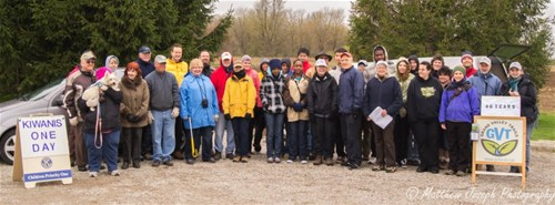 KW Kiwanis Family working with Grand River Trails Association on Kiwanis One Day