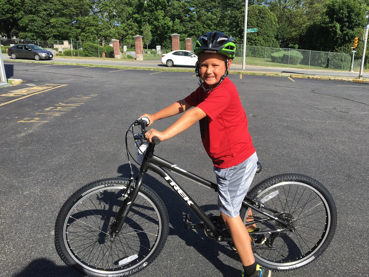 2016 Free Helmet and Bike Check Day winner of a free bike