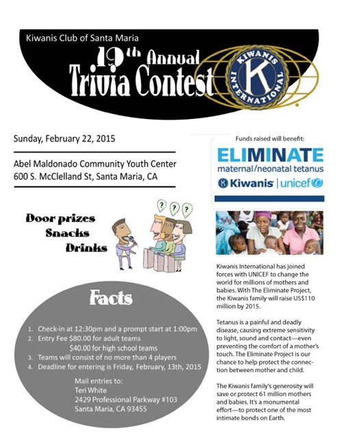 19th Annual Trivia Contest