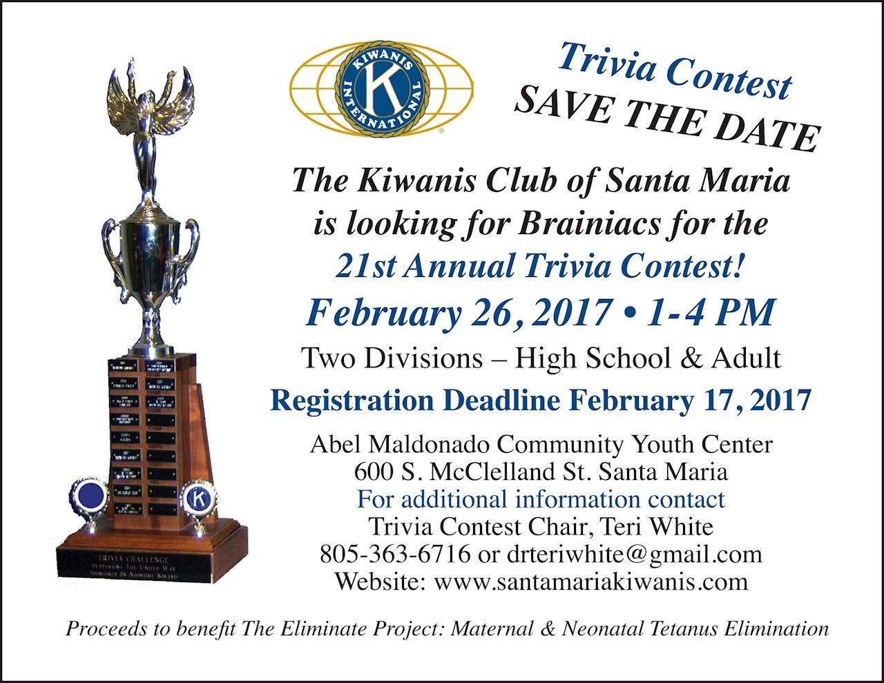 21st Annual Trivia Contest