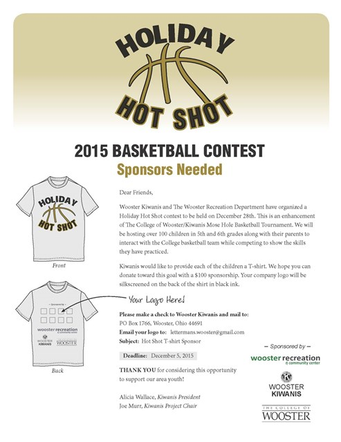 Holiday Hot Shot Sponsors Needed