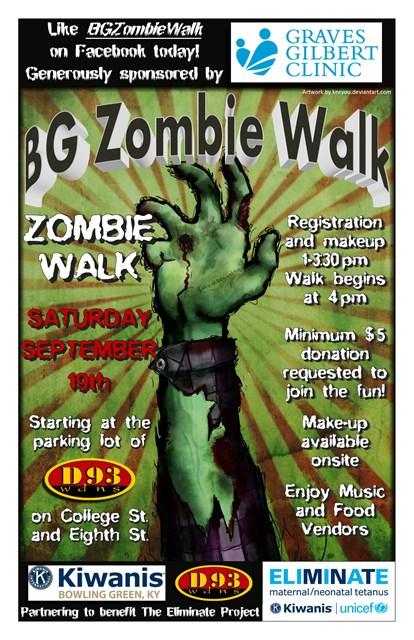 2015 BG Zombie Walk poster