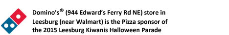 Domino's-Halloween Parade 2015 Pizza sponsor