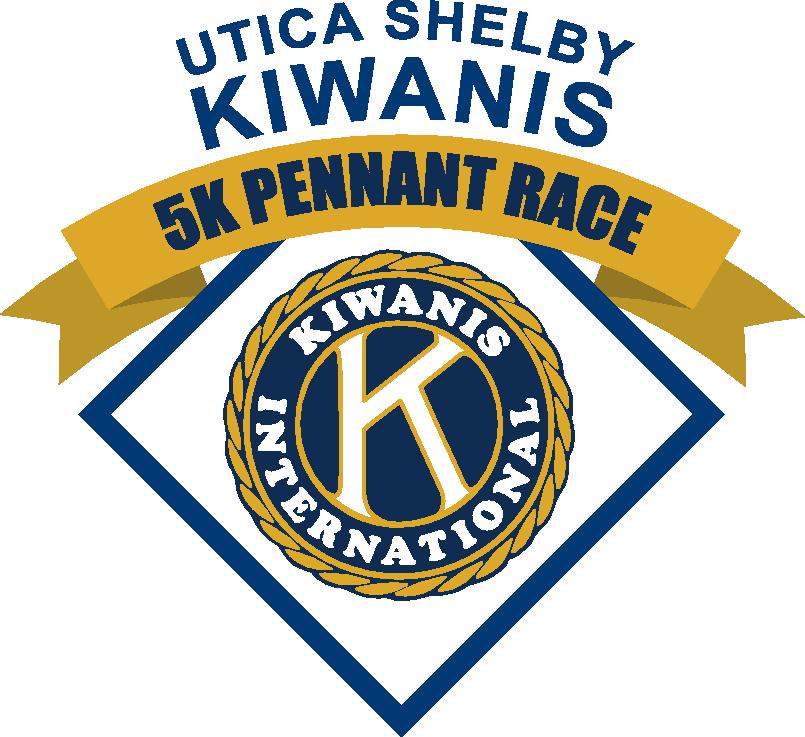 First Annual Kiwanis 5K Pennant Race logo