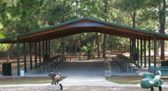 Kiwanis Club of Rockledge arranged and funded the installation of the Kiwanis Pavilion at Dick BLake Park located off Gus Hipp Road.