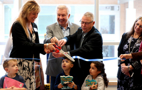 Tiny Library Ribbon Cutting