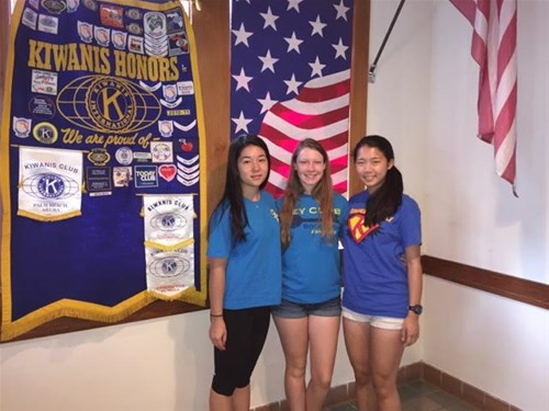 2015-2016 Key Club Members: Minami Guido, Carly Berthiaume, Yuria Utsumi