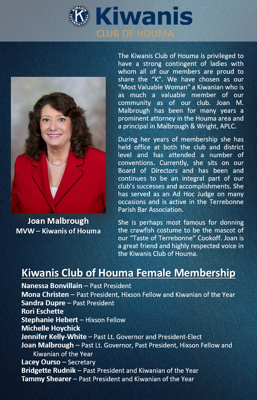 Kiwanis Club of Houma Advertorial