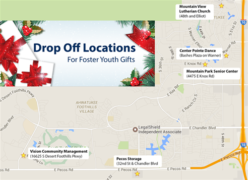 Drop Off Location Map