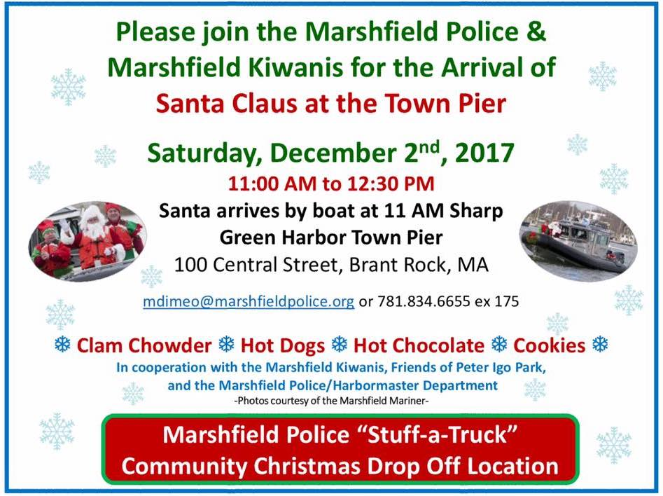 Santa At Marshfield Town Pier