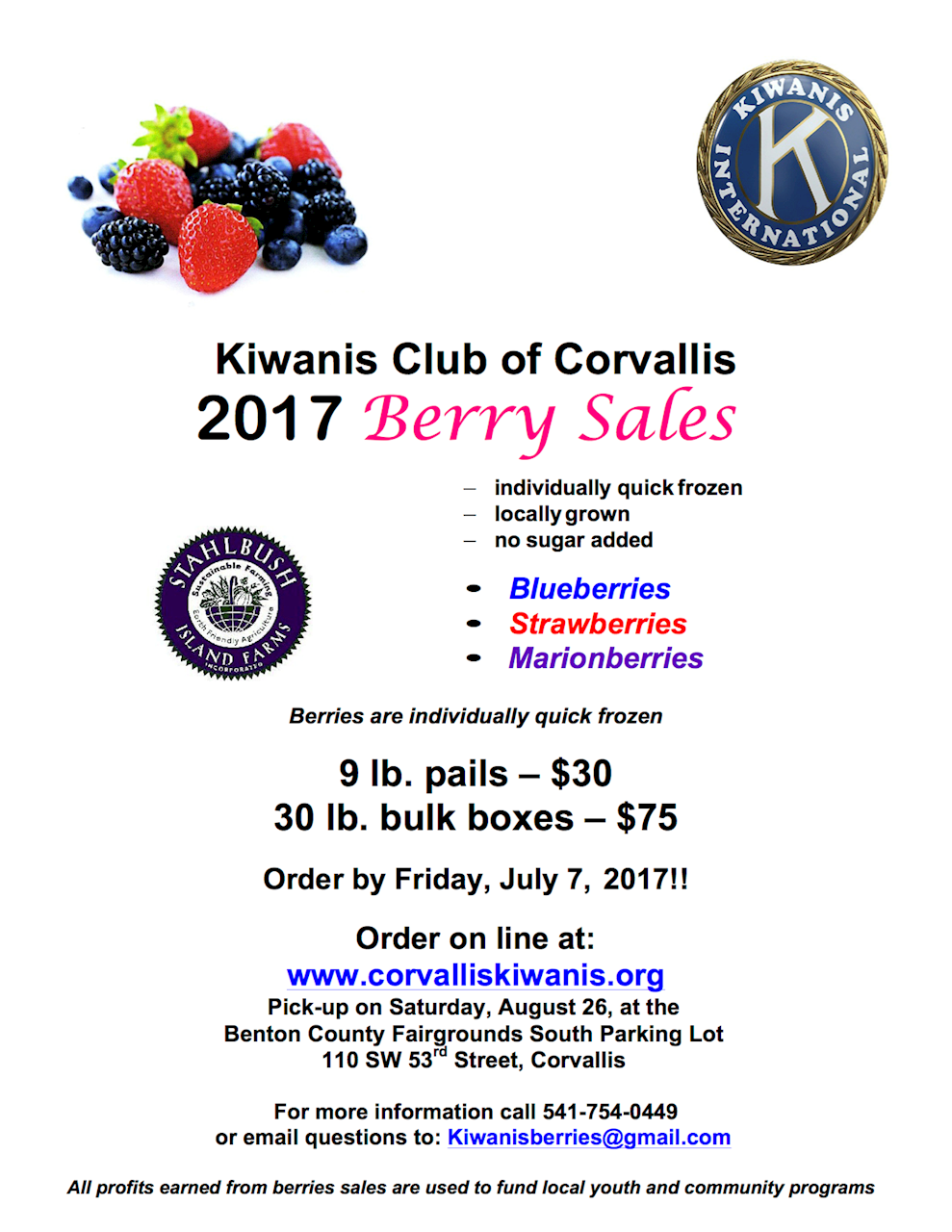 Berry Sale Poster