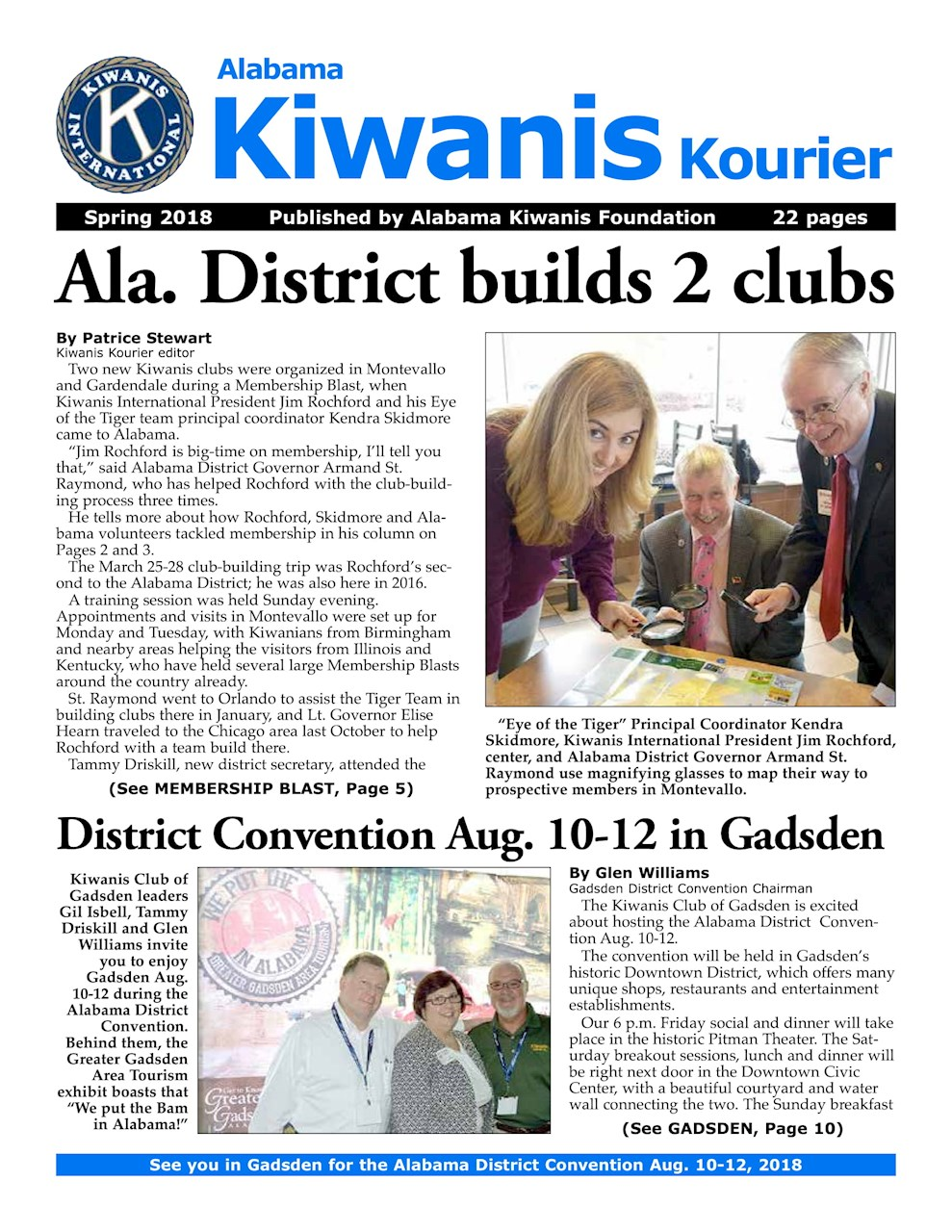 Spring 2018 Edition of the Alabama Kiwanis Kourier