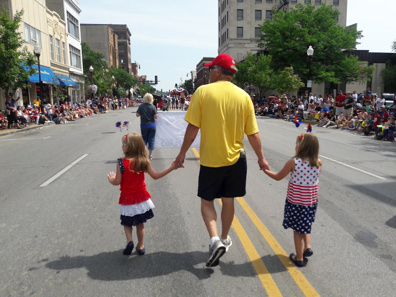 Joe and kids 4th of July Parade