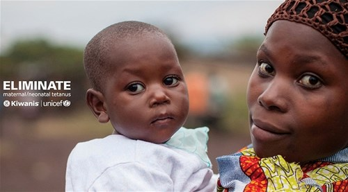 With The Eliminate Project, Kiwanis International and UNICEF have joined forces to eliminate maternal and neonatal tetanus.